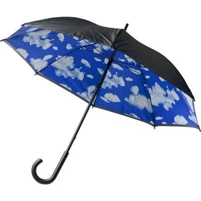 Picture of DOUBLE CANOPY UMBRELLA in Black & Blue
