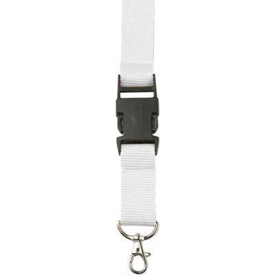 Picture of LANYARD in White with Safety Clip & Key holder