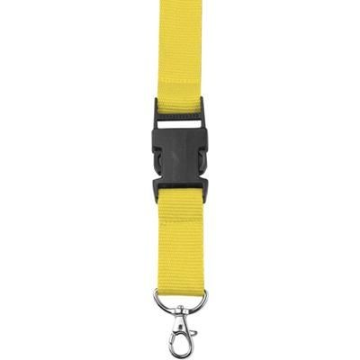 Picture of LANYARD in Yellow with Safety Clip & Key holder