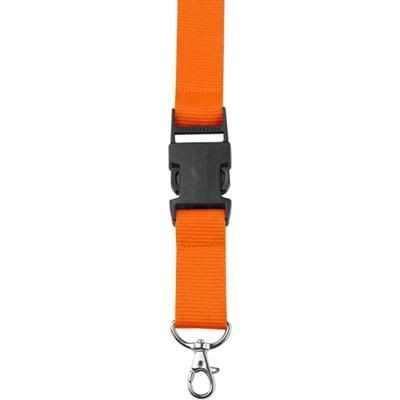 Picture of LANYARD in Orange with Safety Clip & Key holder