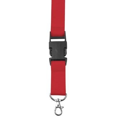 Picture of LANYARD in Red with Safety Clip & Key holder