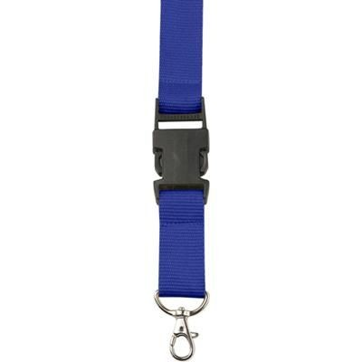 Picture of LANYARD in Blue with Safety Clip & Key holder