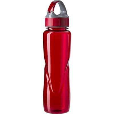 Picture of TRITAN WATER BOTTLE in Red includes Belt Clip in Cap, 700ML Capacity