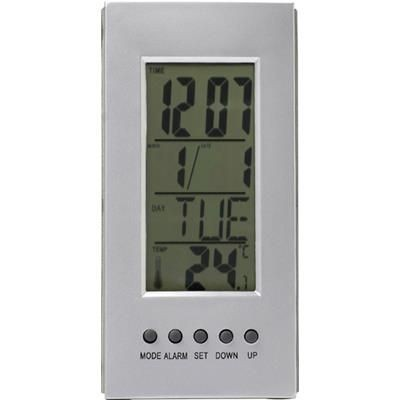 Picture of MULTI FUNCTION DESK CLOCK in Silver