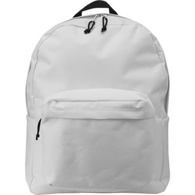 Picture of POLYESTER BACKPACK RUCKSACK in White