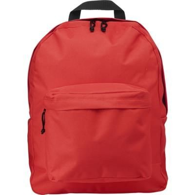 Picture of POLYESTER BACKPACK RUCKSACK in Red