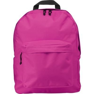Picture of POLYESTER BACKPACK RUCKSACK in Pink