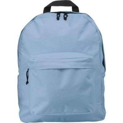 Picture of POLYESTER BACKPACK RUCKSACK in Pale Blue