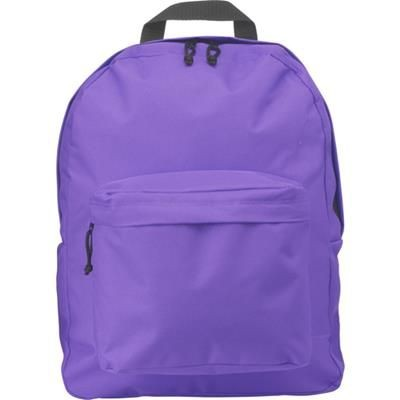 Picture of POLYESTER BACKPACK RUCKSACK in Purple