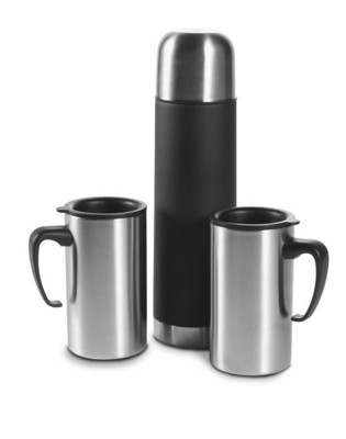 Picture of STAINLESS STEEL METAL THERMOS SET