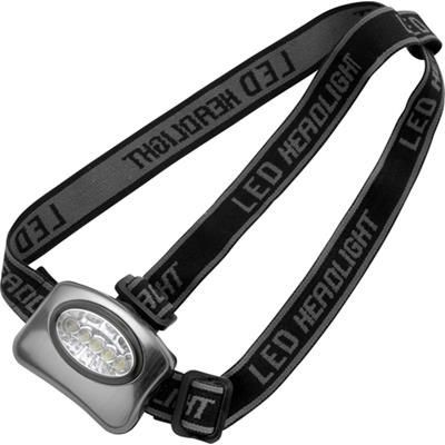 Picture of ALUMINIUM METAL THREE FUNCTION HEAD TORCH in Silver