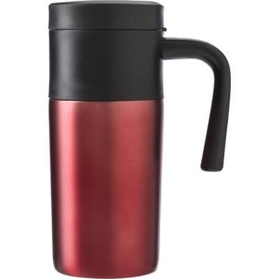 Picture of STAINLESS STEEL METAL TRAVEL MUG in Red