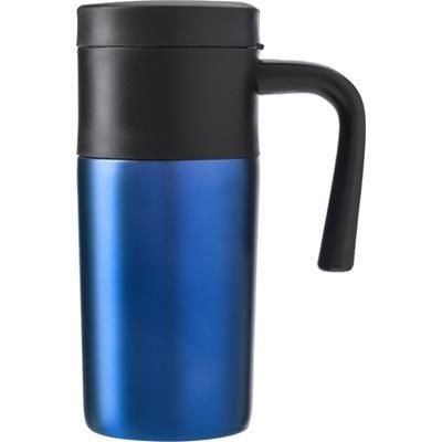 Picture of STAINLESS STEEL METAL TRAVEL MUG in Cobalt Blue