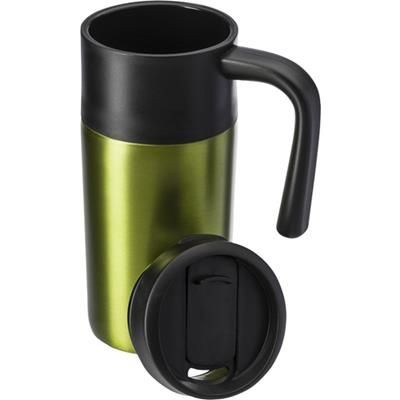 Picture of STAINLESS STEEL METAL TRAVEL MUG in Pale Green