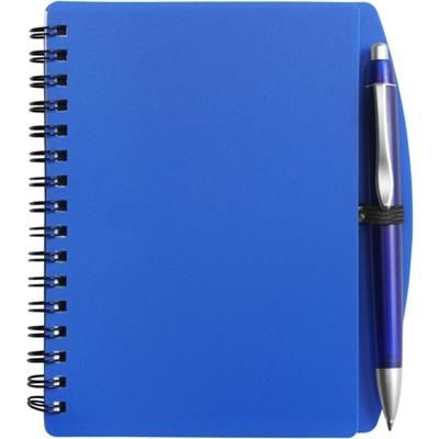 Picture of A6 SPIRAL WIRO BOUND NOTE BOOK & BALL PEN in Blue