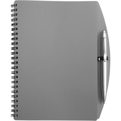 Picture of A5 SPIRAL WIRO BOUND NOTE BOOK & BALL PEN in Grey