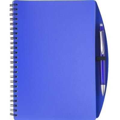 Picture of A5 SPIRAL WIRO BOUND NOTE BOOK & BALL PEN in Blue