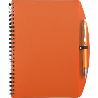 Picture of A5 SPIRAL WIRO BOUND NOTE BOOK & BALL PEN in Orange