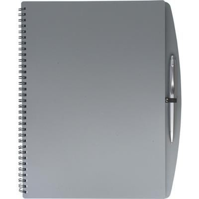 Picture of A4 SPIRAL WIRO BOUND NOTE BOOK & BALL PEN in Grey