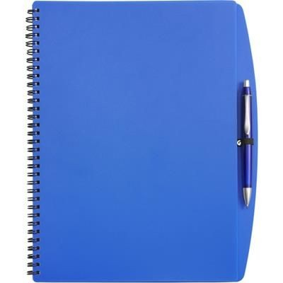 Picture of A4 SPIRAL WIRO BOUND NOTE BOOK & BALL PEN in Blue