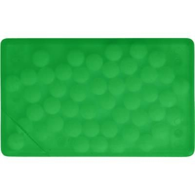 Picture of RECTANGULAR SHAPE PLASTIC MINTS CARD in Pale Green