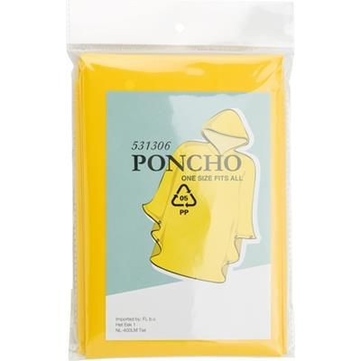 Picture of PONCHO with Hood in Yellow