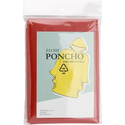 Picture of PONCHO with Hood in Red
