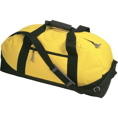 Picture of SPORTS TRAVEL BAG in Yellow with Black Contrast Trim