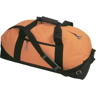 Picture of SPORTS TRAVEL BAG in Orange with Black Contrast Trim