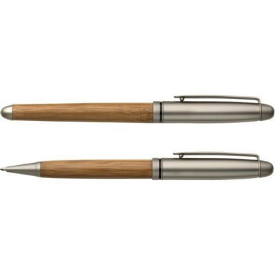 Picture of BEECH WOOD WOOD BALL PEN AND ROLLERPEN