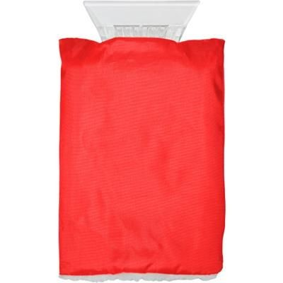 Picture of CAR ICE SCRAPER & FLEECE GLOVE in Red