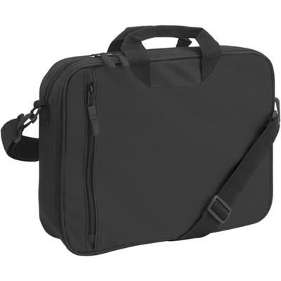Picture of DOCUMENT BAG with Front Vertical Zip in Black