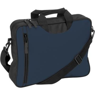 Picture of DOCUMENT BAG with Front Vertical Zip in Blue
