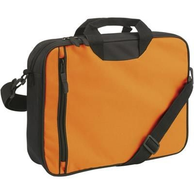Picture of DOCUMENT BAG with Front Vertical Zip in Orange