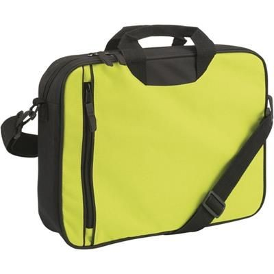 Picture of DOCUMENT BAG with Front Vertical Zip in Light Green