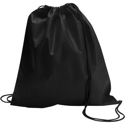 Picture of DRAWSTRING BACKPACK RUCKSACK in Black