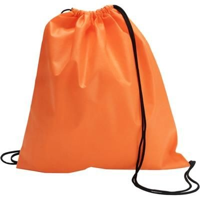 Picture of DRAWSTRING BACKPACK RUCKSACK in Orange