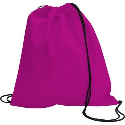 Picture of DRAWSTRING BACKPACK RUCKSACK in Pink