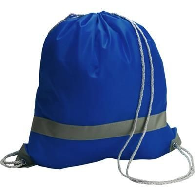 Picture of REFLECTIVE DRAWSTRING BACKPACK RUCKSACK in Blue