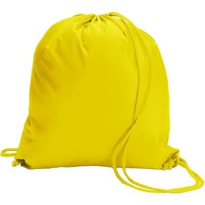 Picture of DRAWSTRING BACKPACK RUCKSACK in Yellow