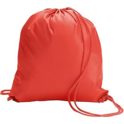 Picture of DRAWSTRING BACKPACK RUCKSACK in Red