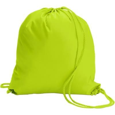 Picture of DRAWSTRING BACKPACK RUCKSACK in Bright Yellow