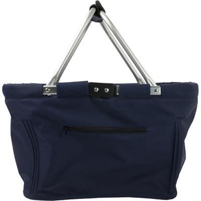 Picture of FOLDING SHOPPER BAG BASKET in Blue