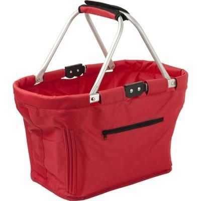 Picture of FOLDING SHOPPER BAG BASKET in Red