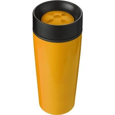 Picture of STAINLESS STEEL TRAVEL MUG in Orange