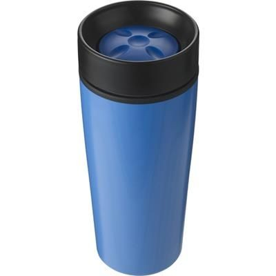 Picture of STAINLESS STEEL TRAVEL MUG in Pale Blue