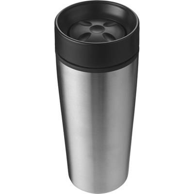 Picture of STAINLESS STEEL TRAVEL MUG in Silver