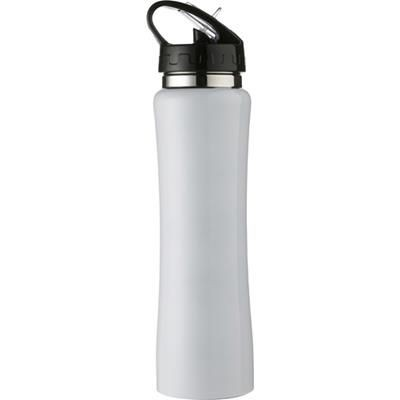 Picture of ALUMINIUM METAL SPORTS DRINK BOTTLE in White