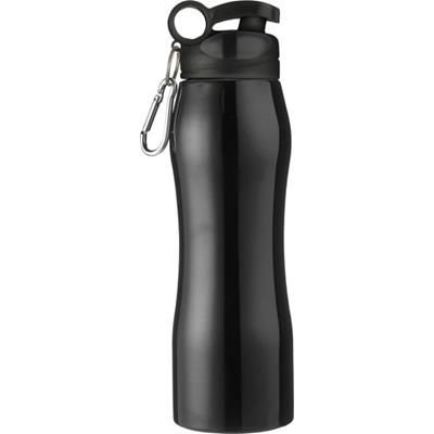 Picture of ALUMINIUM METAL SPORTS DRINK BOTTLE in In Black