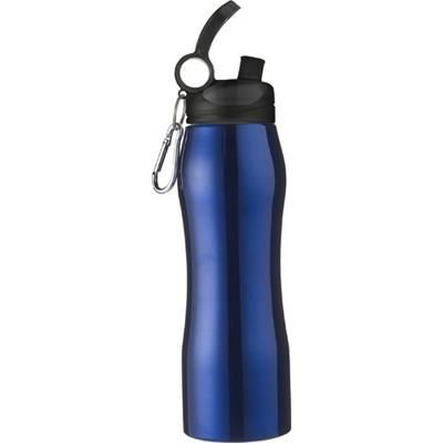 Picture of ALUMINIUM METAL SPORTS DRINK BOTTLE in In Cobalt Blue